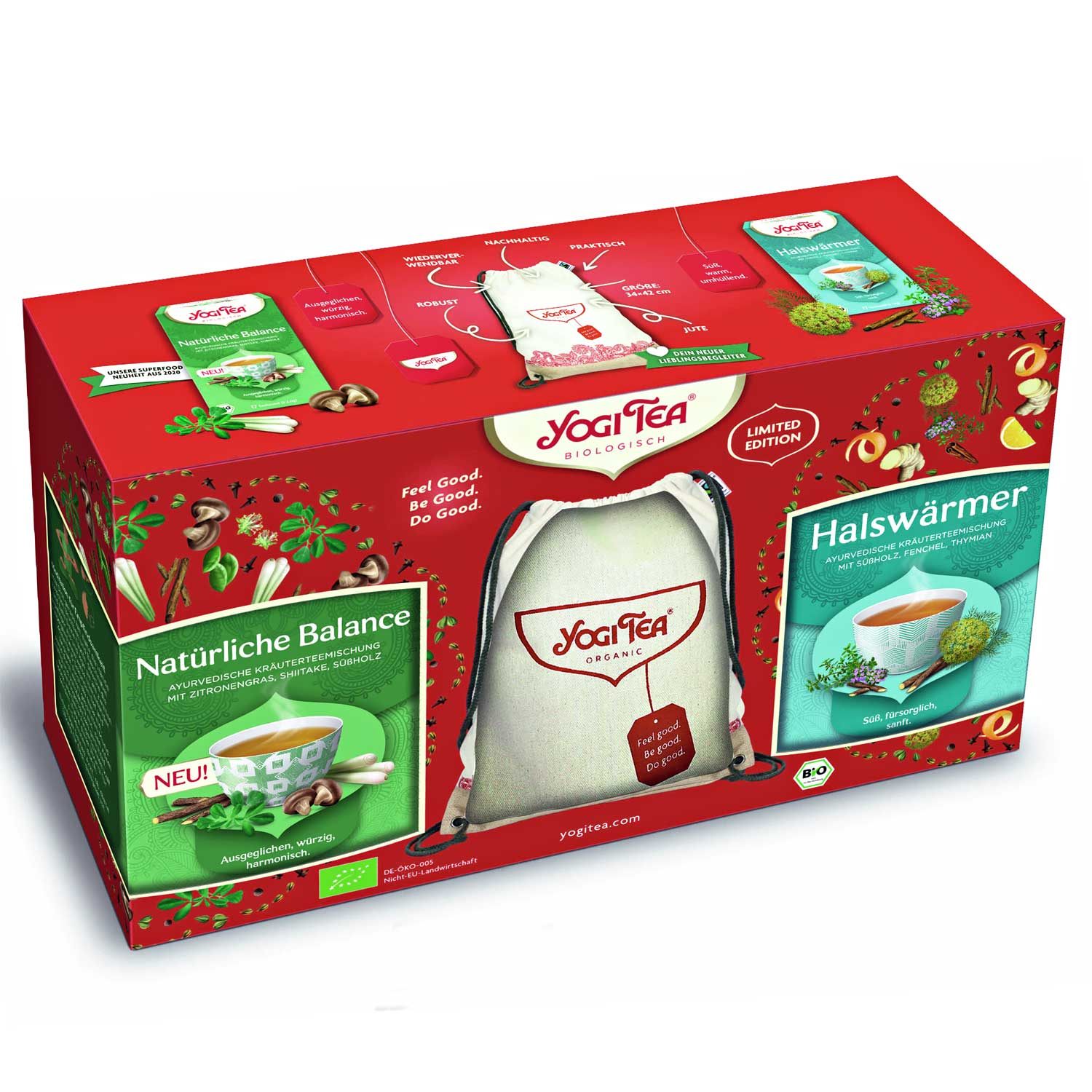 "Yogi Tea ""Backpack Bundle"" Gift Set (Seljakotiga kinkekomplekt)"