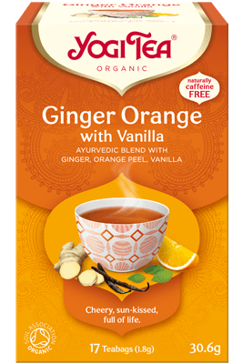 Ginger Orange with Vanilla Yogi Tea (Ingveri-Apelsini tee koos vanilliga)