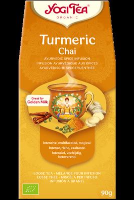 Turmeric Chai Yogi Tea (Kurkumi chai tee - kuldne piim)