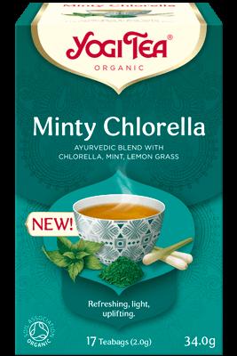 Minty Chlorella Yogi Te, organic