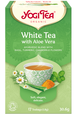 White Tea with Aloe Vera Yogi Tea (Valge tee koos aloe veraga)